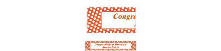 Custom Orange Polka Dot Banner 6ft