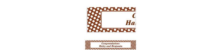Custom Chocolate Brown Polka Dot Banner 6ft