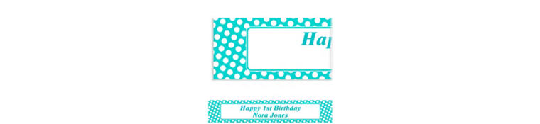 Custom Robin's Egg Blue Polka Dot Banner 6ft