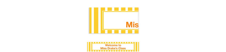Custom Sunshine Yellow Stripe Banner 6ft