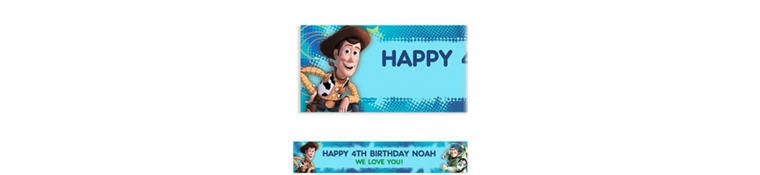 Toy Story Power Up Custom Banner