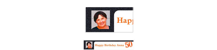 Custom Big Celebration 50 Photo Banner 6ft