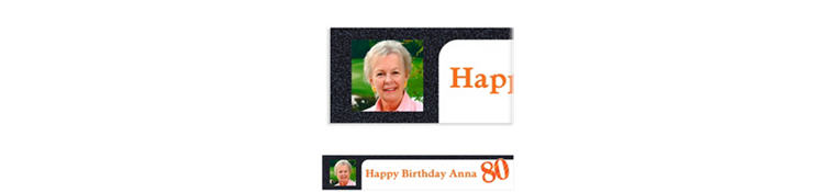 Custom Big Celebration 80 Photo Banner 6ft