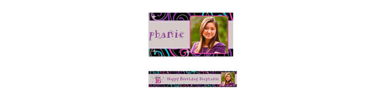 Custom Sweet 16 Celebration Photo Banner 6ft