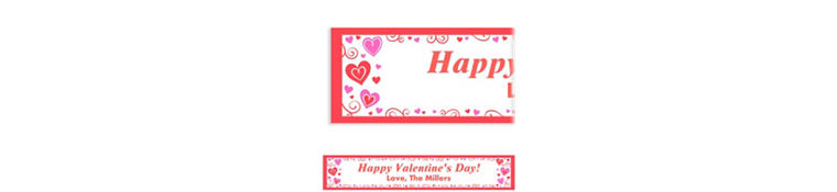 Custom Valentine Fun Banner 6ft