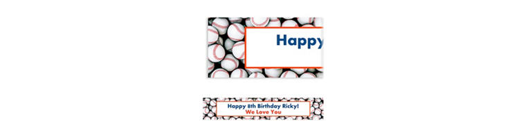 Custom Baseball Ticket Banner