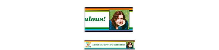 Custom Rainbow 40th Birthday Photo Banner