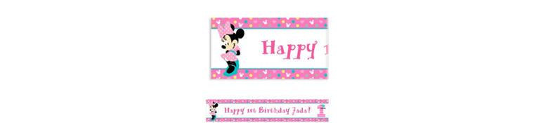 Custom Minnie's 1st Birthday Banner