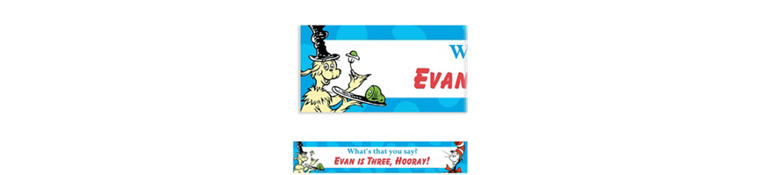 Custom Dr. Seuss Banner