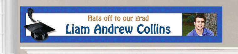 Custom Royal Blue Graduation Banners