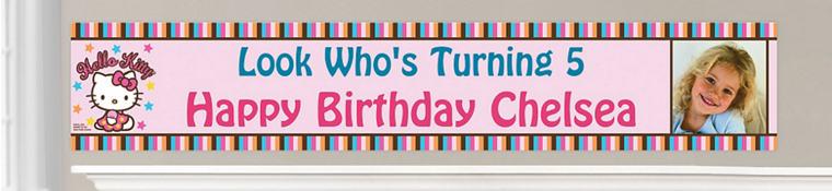 Custom Hello Kitty Birthday Banners