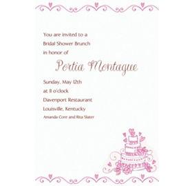 Custom Cake Bridal Shower Invitations Amp Thank You Notes