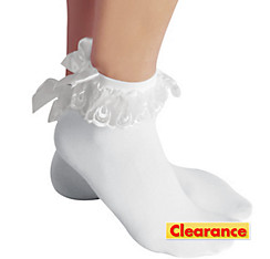 Adult Anklet Socks With White Bow