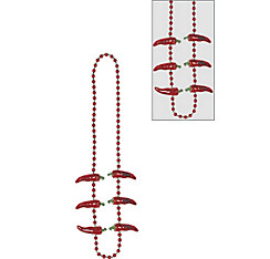 Chili Pepper Beads Necklace