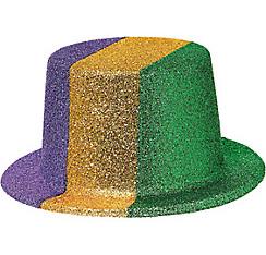 Glitter Mardi Gras Top Hat