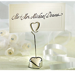 quick shop silver heart place card holder