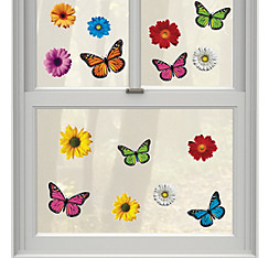 Vinyl Spring Window Decorations 15ct