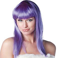 Eden Premium Shoulder-Length Purple Wig