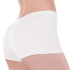 Adult White Boyshorts