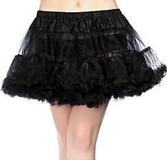 Adult Black Crinoline Petticoat Plus Size