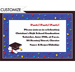 Custom Commencement Celebration Graduation Invitations