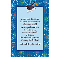 Custom Dazzling Grad Invitations