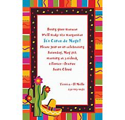 Fiesta Fun Custom Invitation