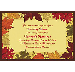 Autumn Medley Custom Invitation