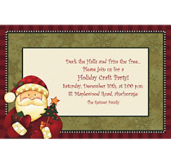Cozy Santa Custom Christmas Invitation