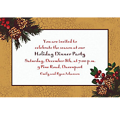 Holiday Splendor Custom Christmas Invitation