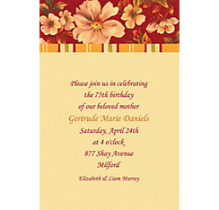 Classic Floral Red Custom Invitation