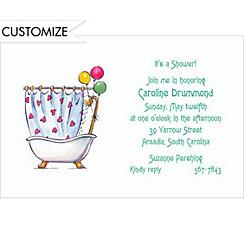 A Shower! Custom Bridal Shower Invitation
