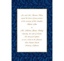 Blue Damask Custom Invitation