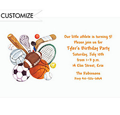 Play Ball Custom Invitation
