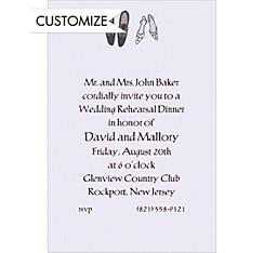 Bride and Groom Shoes Custom Wedding Invitation