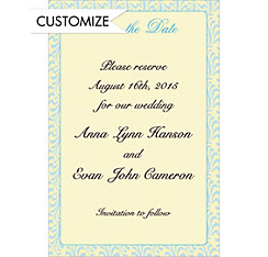 Formal Save-the-Date Custom Wedding Invitation