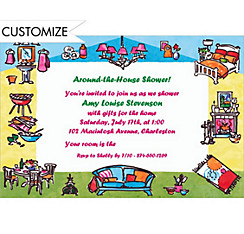 Around-the-House Custom Bridal Shower Invitation