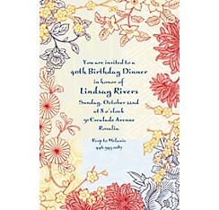 Asian Pastiche Custom Invitation