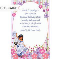 Jasmine in Flower Garden Custom Invitation