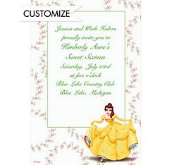 Belle and Floral Garlands Custom Invitation
