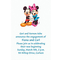 Mickey and Minnie Mouse Custom Invitation