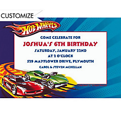 Hot Wheels Custom Invitation