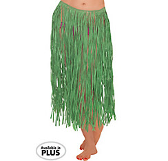 Adult XL Green Grass Hula Skirt