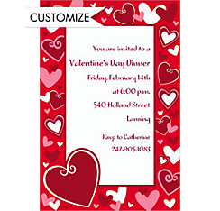 Custom Be Mine Valentine's Day Invitations