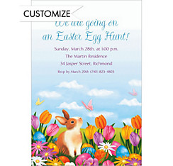 Custom Garden Bunny Invitations