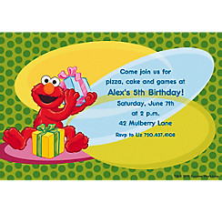 Custom Elmo Invitations