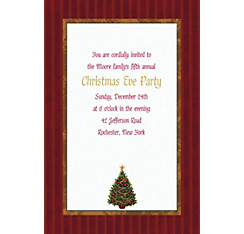 Twinkling Tree Custom Christmas Invitation