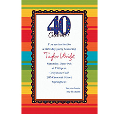 A Year to Celebrate 40 Custom Invitation