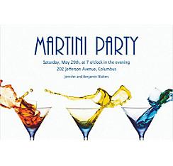 Three Martinis Custom Invitation