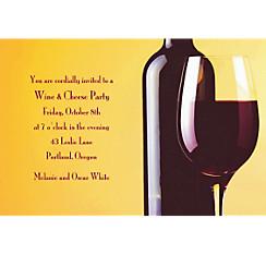 Wine & Glass Custom Invitation